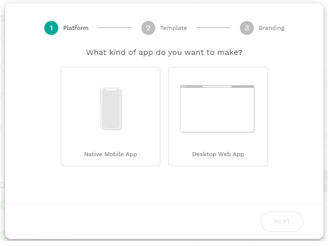 ノーコード開発ツールAdaloの画面